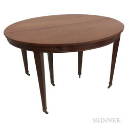 Mahogany Oval Dining Table